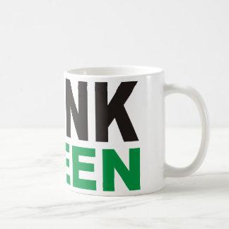 ¡Piense los productos verdes y los diseños! Taza