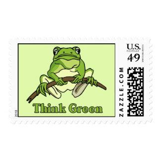 Piense los sellos verdes