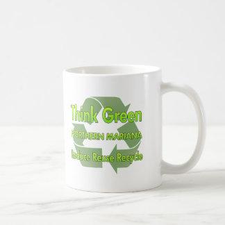 Piense Mariana septentrional verde Taza De Café