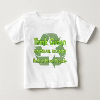 Piense Marshall Islands verdes Playeras