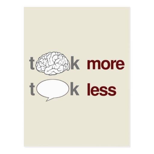 Piense más, charla menos postales