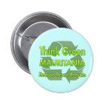 Piense Mauritania verde Pin