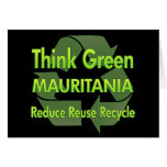 Piense Mauritania verde Tarjetón