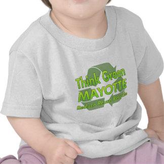 Piense Mayotte verde Camisetas