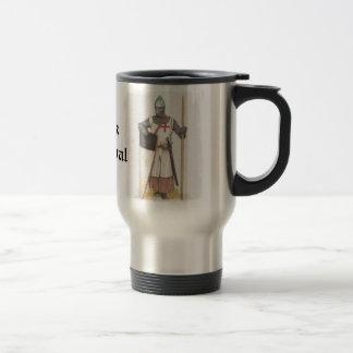 Piense medieval taza de viaje de acero inoxidable