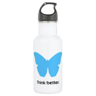 Piense mejor con MorphOS Botella De Agua De Acero Inoxidable