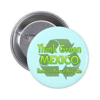Piense México verde Pins