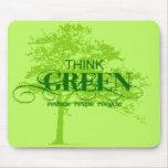 Piense Mousepad verde Alfombrillas De Raton