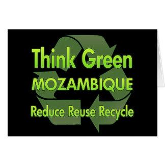 Piense Mozambique verde Felicitación