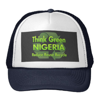 Piense Nigeria verde Gorro De Camionero
