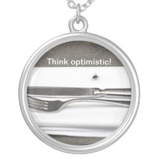 ¡Piense optimista! Colgante Redondo