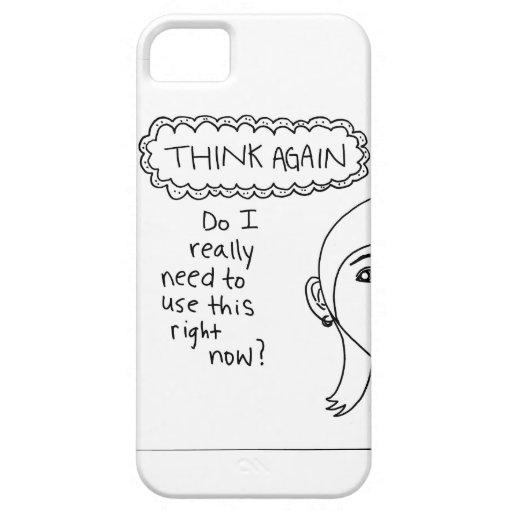 """""""Piense otra vez"""" el caso del iPhone (la mujer) iPhone 5 Case-Mate Carcasas"""