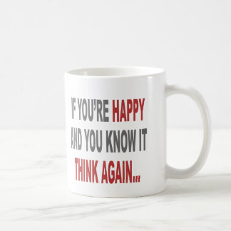 Piense otra vez taza de café