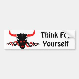 Piense para sí mismo etiqueta de parachoque