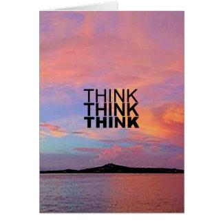 Piense piensan piensan tarjeta de felicitación