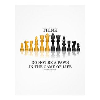 Piense que (ajedrez) no sea un empeño en The Game  Plantillas De Membrete