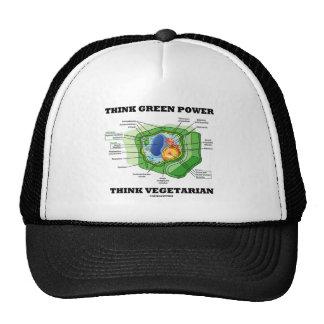 Piense que el poder verde piensa al vegetariano (c gorras