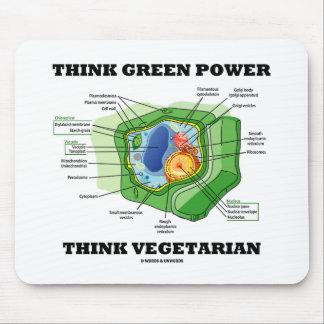 Piense que el poder verde piensa al vegetariano (c tapete de raton