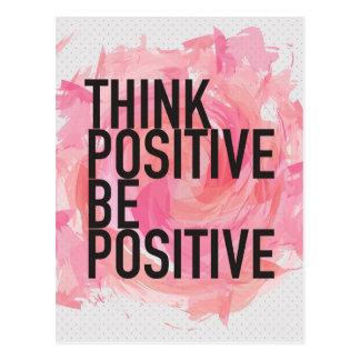 Piense que el positivo sea positivo postal