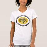 Piense que el sueño respira la genealogía camiseta