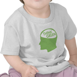 Piense que el verde recicla camiseta