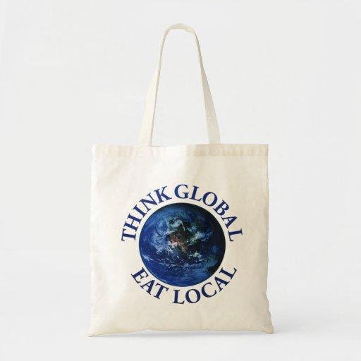 Piense que global coma el Local Bolsa Tela Barata