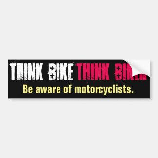 Piense que la bici sea directa enterado pegatina para auto
