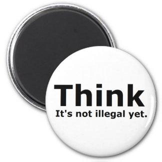 Piense que no es engranaje ilegal con todo polític imán redondo 5 cm