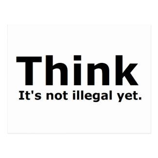Piense que no es engranaje ilegal con todo postal