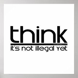 Piense que no es ilegal todavía impresiones