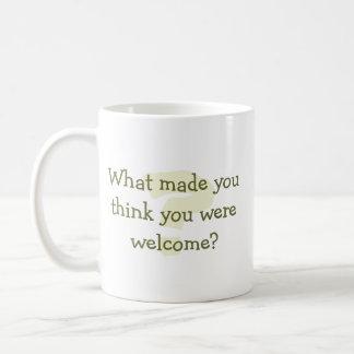 ¿Piense que usted es agradable? taza