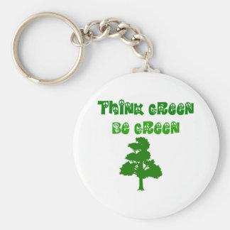 Piense que verde sea llavero verde