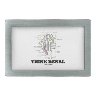 Piense renal (el ejemplo de la anatomía de Nephron Hebillas De Cinturón