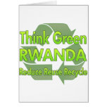 Piense Rwanda verde Felicitacion