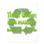Piense San Marino verde Tarjeta Postal