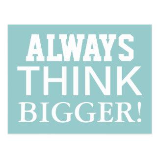 Piense siempre más grande - las postales de motiva