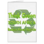 Piense Suráfrica verde Felicitaciones