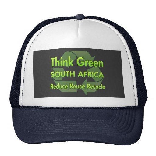 Piense Suráfrica verde Gorras
