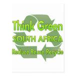 Piense Suráfrica verde Tarjetas Postales