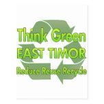 Piense Timor Oriental verde Postal
