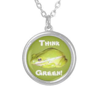 Piense verde - collar americano de la rana arbórea