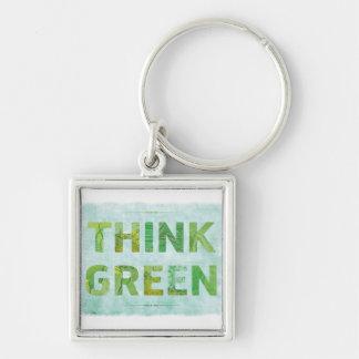 Piense verde - llavero superior