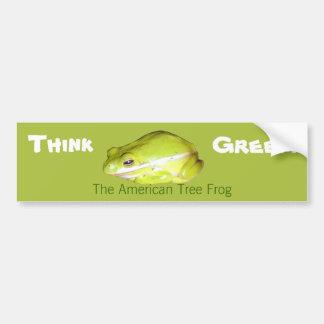 Piense verde - pegatina para el parachoques pegatina para auto