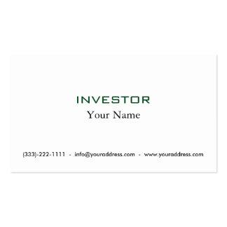 Piense y crezca la tarjeta rica del inversor tarjetas de visita