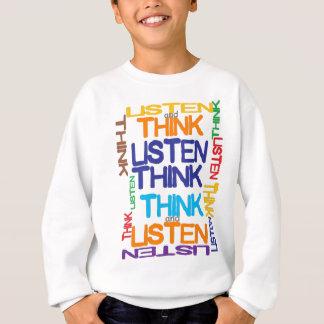 piense y escuche polera