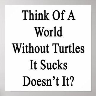 Piénselo en un mundo sin las tortugas que Sucks no Poster