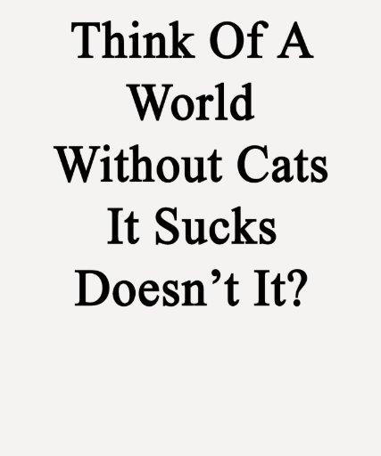 ¿Piénselo en un mundo sin los gatos que Sucks no h Camisetas