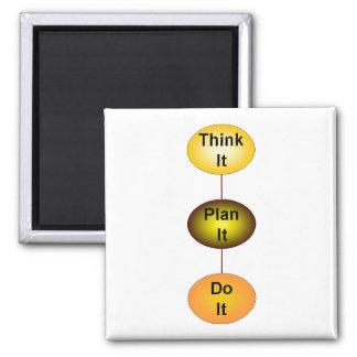 Piénselo plan que lo hace imán cuadrado