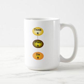 Piénselo plan que lo hace taza de café