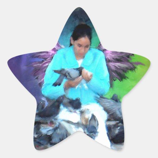 pienso de la alimentación soul_Painting.jpg Pegatina En Forma De Estrella